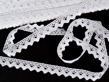 Bobbin lace No. 75259 white | 30 m - 5