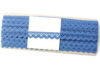 Paličkovaná krajka vzor 75259 blankytně modrá | 30 m - 5