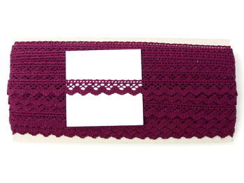 Paličkovaná krajka vzor 75259 fialová   30 m - 5