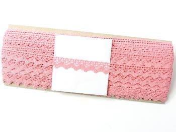 Paličkovaná krajka vzor 75259 růžová | 30 m - 5