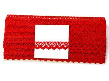 Paličkovaná krajka 75259 bavlněná, šířka17 mm, červená - 5