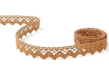 Cotton bobbin lace 75259, width 17 mm, terracotta - 5