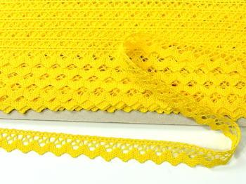 Paličkovaná krajka vzor 75259 žlutá | 30 m - 5