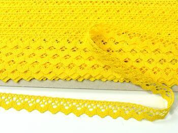 Cotton bobbin lace 75259, width 17 mm, yellow - 5
