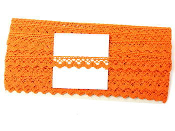 Bobbin lace No. 75259 orange | 30 m - 5