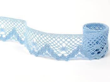 Paličkovaná krajka 75261 bavlněná, šířka40 mm, sv.modrá - 5