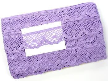 Paličkovaná krajka vzor 75261 purpurová III. | 30 m - 5