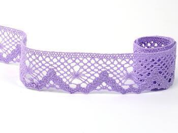Cotton bobbin lace 75261, width 40 mm, purple III - 5