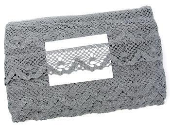 Paličkovaná krajka vzor 75261 šedá III.| 30 m - 5