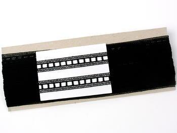 Paličkovaná vsadka vzor 75281 černá | 30 m - 5
