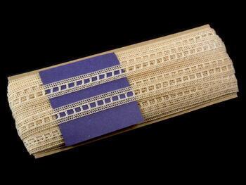 Paličkovaná vsadka vzor 75281 režná | 30 m - 5