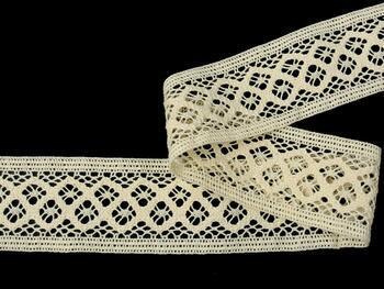 Cotton bobbin lace insert 75283, width53mm, ecru - 5