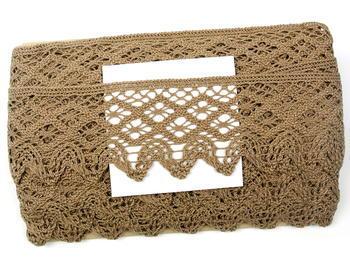 Bobbin lace No. 75293 dark beige | 30 m - 5