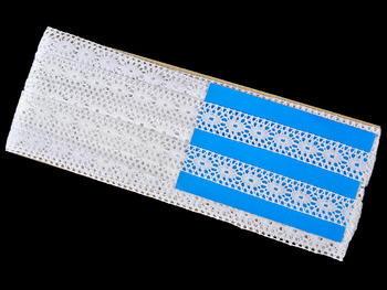 Paličkovaná vsadka vzor 75305 bílá | 30 m - 5