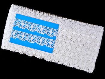Paličkovaná krajka vzor 75328 bílá | 30 m - 5