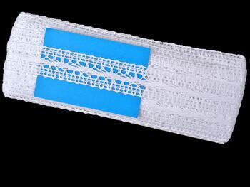 Paličkovaná vsadka vzor 75338 bílá   30 m - 5