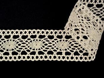 Cotton bobbin lace insert 75384, width45mm, ecru - 5