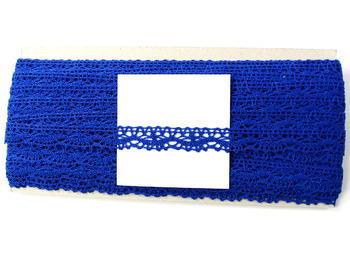 Paličkovaná krajka vzor 75395 královská modrá | 30 m - 5