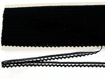 Paličkovaná krajka 75397 bavlněná, šířka9 mm, černá - 5