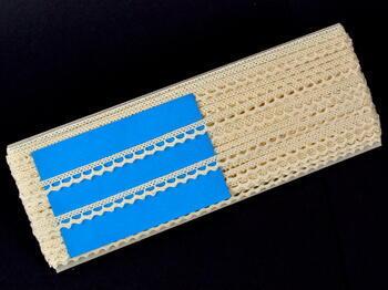 Paličkovaná krajka vzor 75397 režná | 30 m - 5