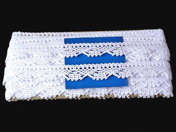 Paličkovaná krajka vzor 75423 bílá | 30 m - 5