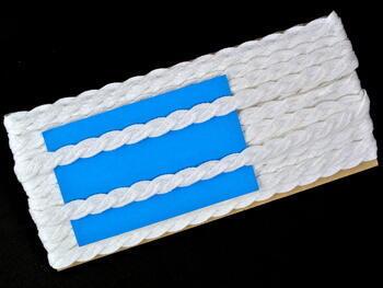 Paličkovaná krajka vzor 75494 bílá | 30 m - 5