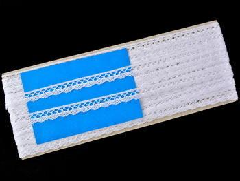 Paličkovaná krajka vzor 75512 bílá | 30 m - 5