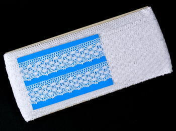 Paličkovaná krajka vzor 75550 bílá   30 m - 5