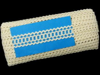 Paličkovaná krajka vzor 75571 režná | 30 m - 5