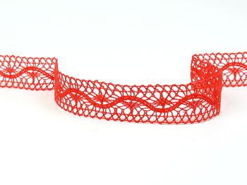 Paličkovaná vsadka vzor 75577 červená | 30 m - 5