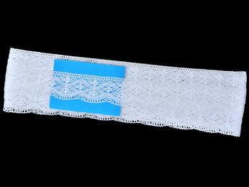 Paličkovaná krajka vzor 75590 bílá | 30 m - 5