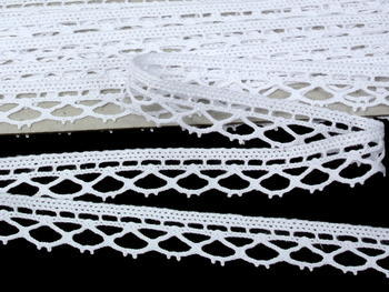 Bobbin lace No. 75595 white | 30 m - 5