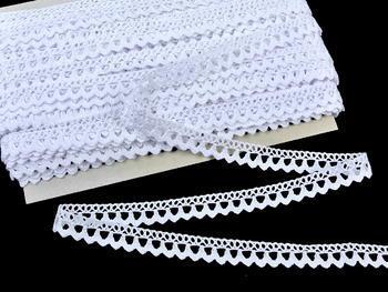 Paličkovaná krajka vzor 75604 bílá | 30 m - 5