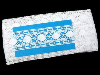 Paličkovaná vsadka vzor 75609 bílá | 30 m - 5