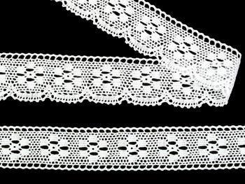 Paličkovaná krajka vzor 75622 bílá | 30 m - 5