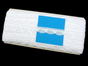 Paličkovaná krajka vzor 75629 bílá | 30 m - 5