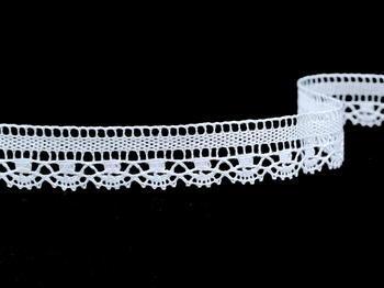 Paličkovaná krajka vzor 81217 bílá | 30 m - 5