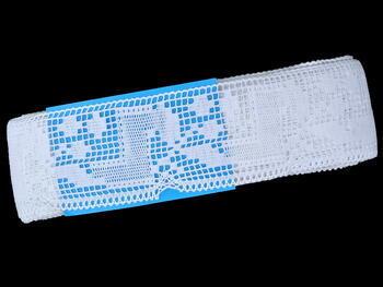 Paličkovaná krajka vzor 81412 bílá | 30 m - 5