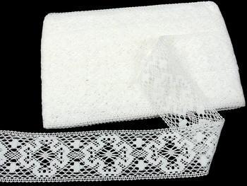 Paličkovaná vsadka vzor 81656 bílá | 30 m - 5