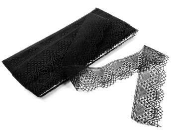 Bobbin lace No. 81733 black | 30 m - 5