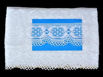 Paličkovaná krajka vzor 81831 bílá | 30 m - 5