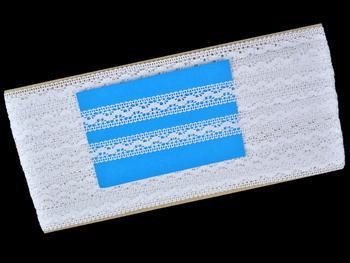 Paličkovaná vsadka vzor 81994 bílá | 30 m - 5