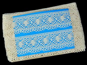 Paličkovaná krajka vzor 82125 režná | 30 m - 5