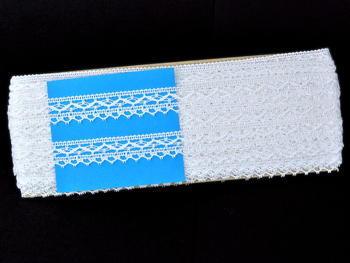 Paličkovaná krajka vzor 82130 bílá | 30 m - 5