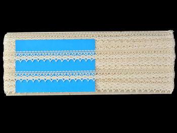 Paličkovaná krajka vzor 82154 režná | 30 m - 5