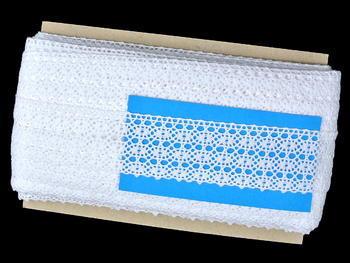 Paličkovaná krajka vzor 82165 bílá | 30 m - 5