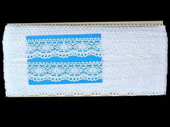 Paličkovaná krajka vzor 82167 bílá | 30 m - 5