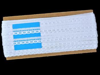 Paličkovaná krajka vzor 82184 bílá | 30 m - 5