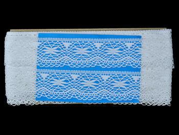 Paličkovaná krajka vzor 82210 bílá | 30 m - 5