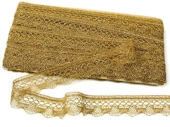 Bobbin lace No. 82216 gold | 30 m - 5